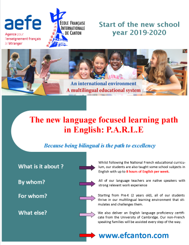 The new language focused learning path in English